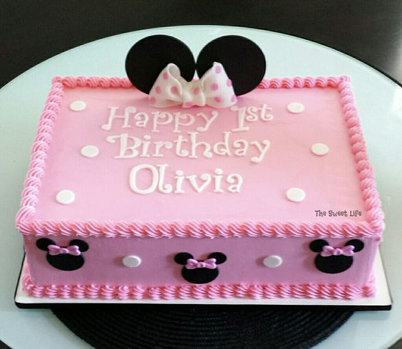 47 best Minnie Mouse Cakes images on Pinterest Anniversary cakes