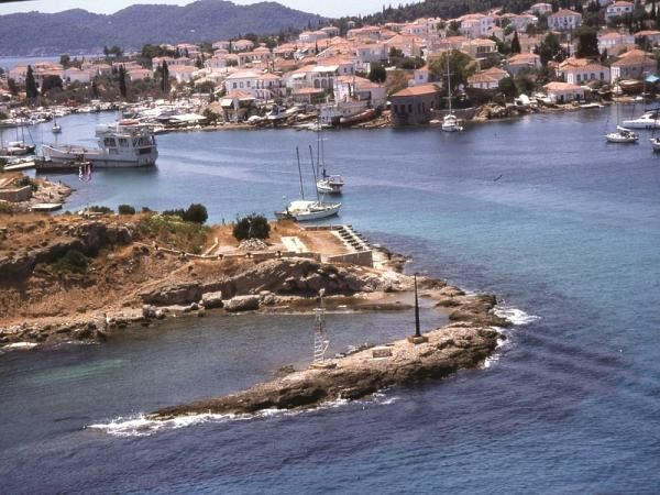 The Lighthouse of Spetses Old Harbor