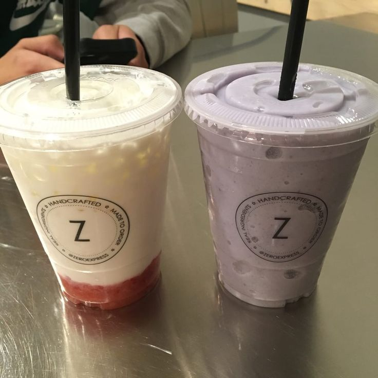 Photo of Zero Express - Long Beach, CA, United States. Strawberry milk light ice, and blended ube milk