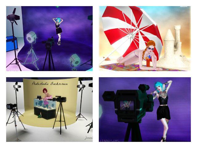 Downloads Sims 3 Scene Backgrounds Photoshoot Screenshot