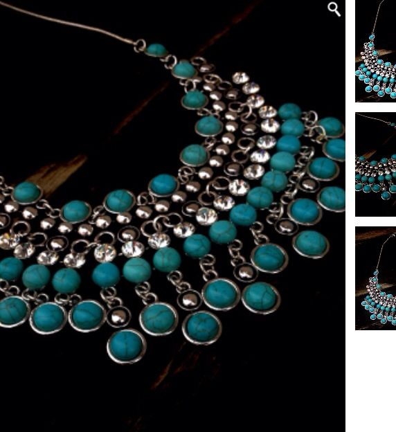 Turquoise statement necklace by Klosetjungle  #necklace #accessories #jewelry #statementnecklace