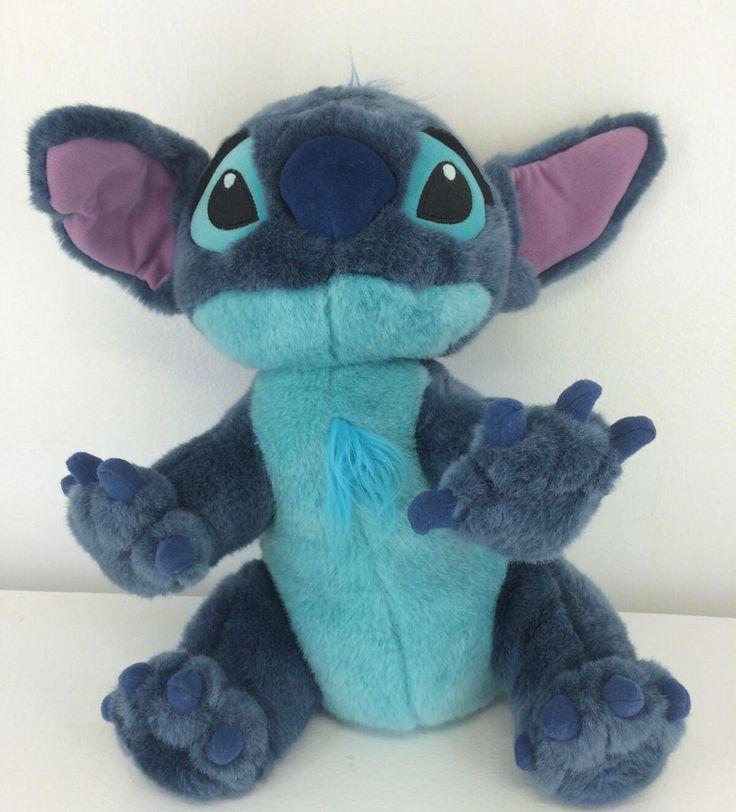 "Disney Store Stitch as Dog Plush 14"" Lilo and Stitch Soft Closed Mouth #Disney"