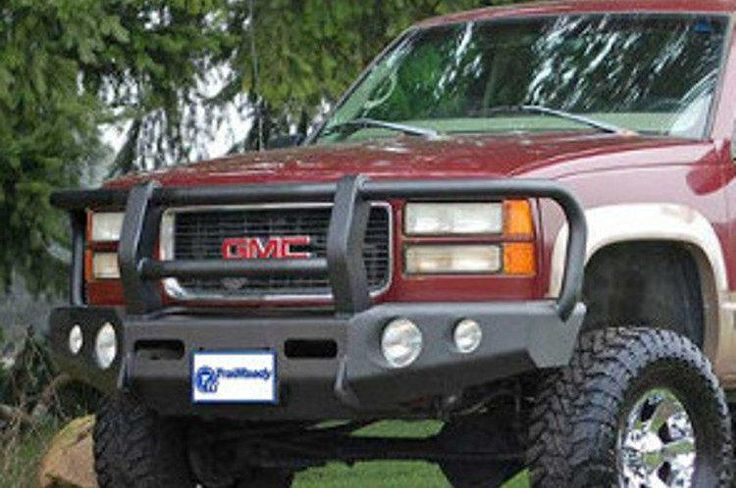 TrailReady 10200G Chevy Silverado 1500 1988-1999 Extreme Duty Front Bumper Winch Ready with Full Guard