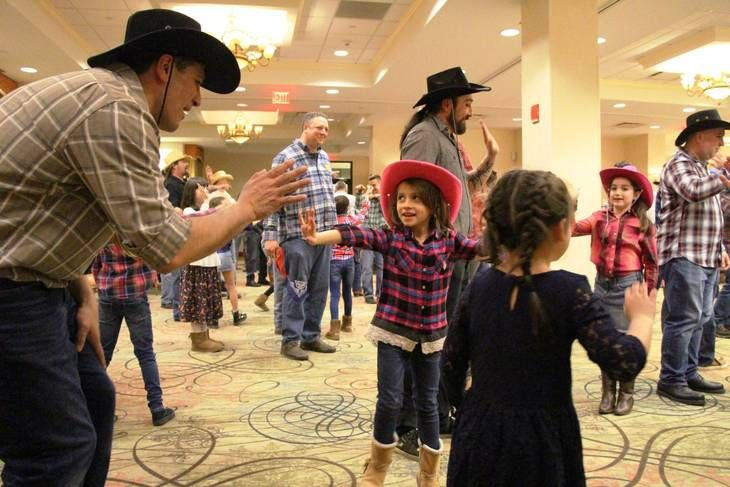 Hasbrouck Heights Girl Scouts Promenade at the Annual Square Dance