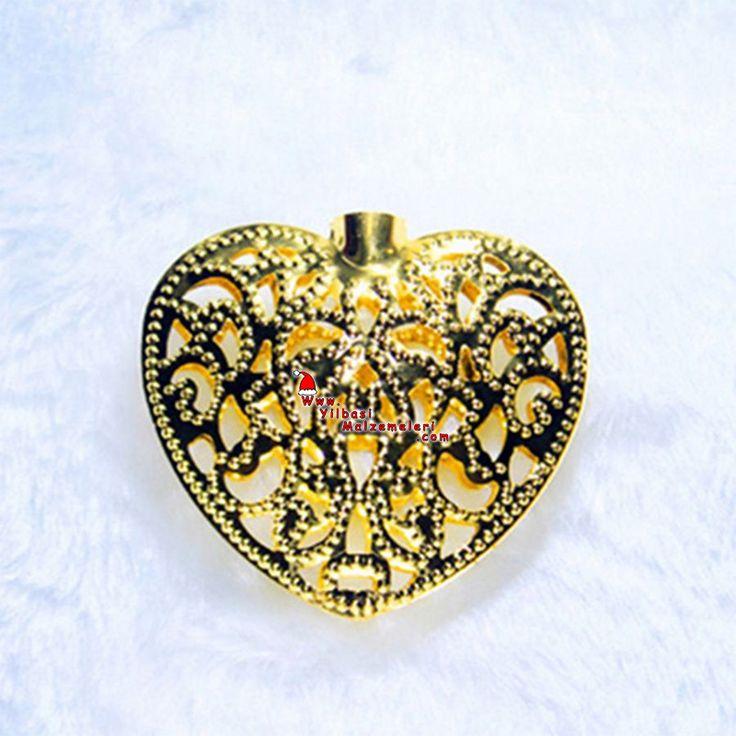 Yılbaşı Kalp Şekilli Metalik Eklemeli Işık 28 Ampül | Yılbaşı Işıkları | Pandoli | Parti Malzemeleri ve Doğum Günü Süsleri Partidolu.com