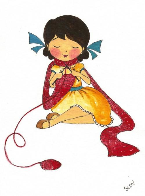 knitting girl: