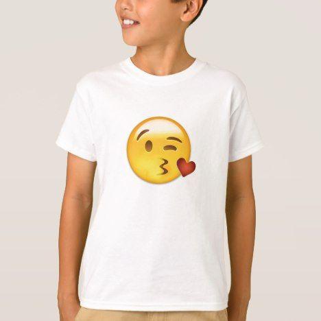 Face Throwing A Kiss Emoji T-Shirt #kidsclothing #babyclothing