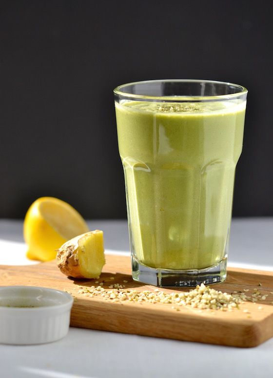 Lemon, Ginger & Green Tea Smoothie | coconutandberries.com