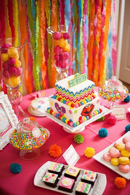 "Sesame Street inspired / Birthday ""Zoe's Sesame Street Soiree""   Catch My Party"