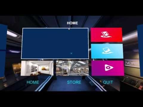 Samsug Gear VR custom UI - YouTube