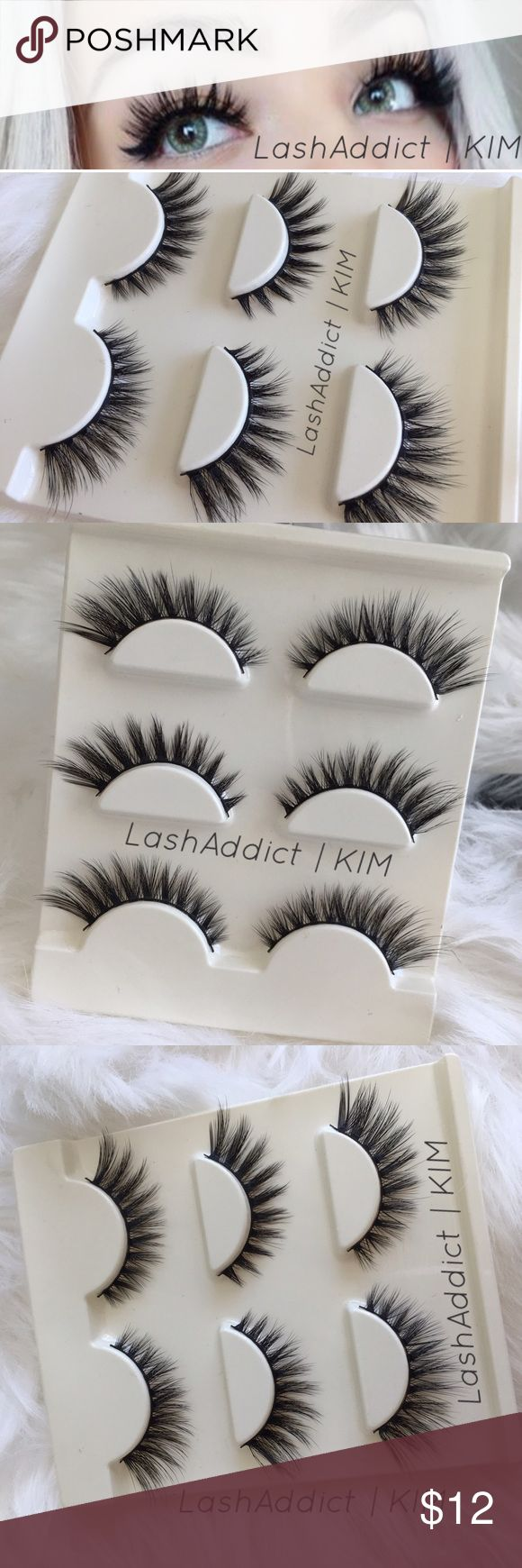 3 Pairs Mink Lashes 3D Eyelashes Lilly Velour New ✨ SUPER DEAL ✨  @Lash Addict/Kim  ❤️PRICE IS FIRM   Mink flutter wispies   •100% Real Mink Fur Strip Lashes •Handcrafted High Quality Lashes •Will last up to 25 applications, handle with care. •All pictures are mine @Lash Addict/Kim • 3 pair mink eyelashes lashes  No Glue / add on for $2 Makeup False Eyelashes