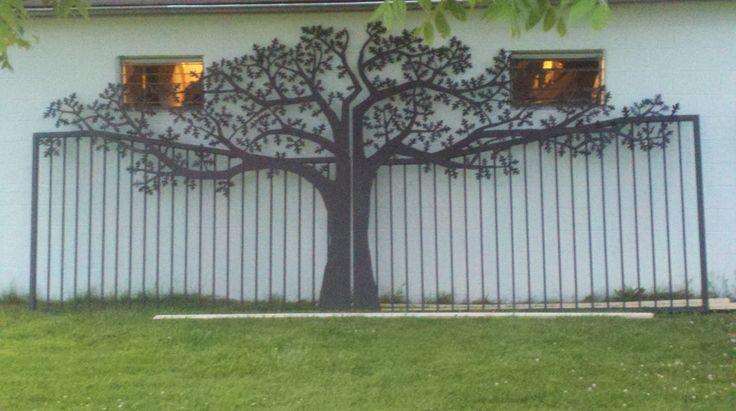 Honda Of Hickory >> Custom Driveway Gates | Oak Tree Gate | Metal Art Entrance ...