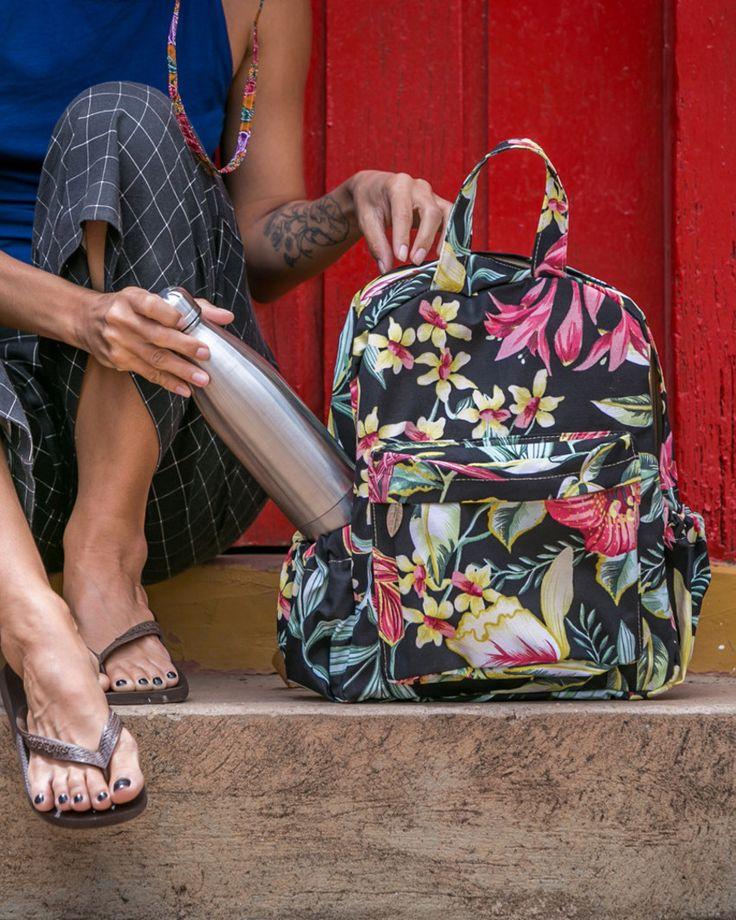mochila impermeável, mochila colorida, mochila estampada, mochilas, mochila floral