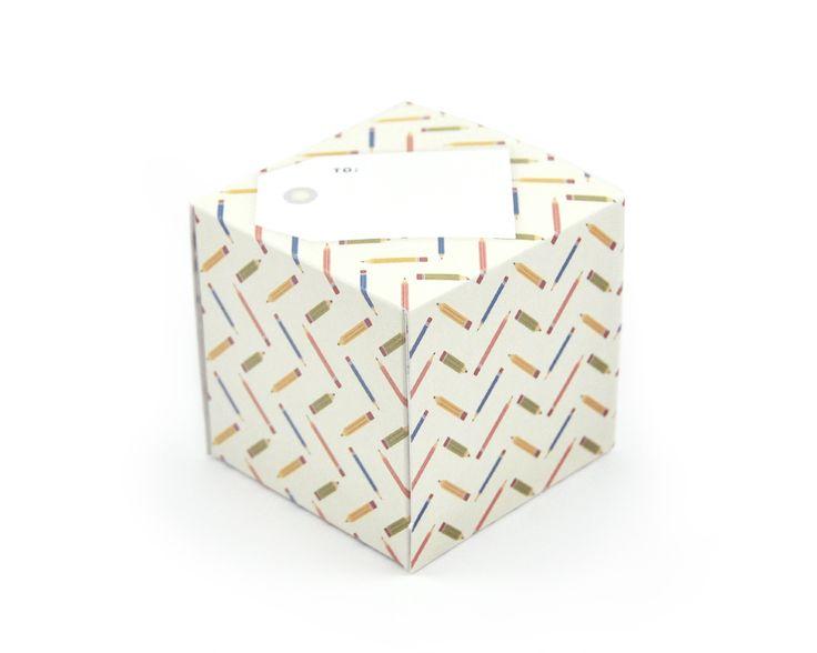 greetabl Pencil Pattern greeting card and gift box, (http://www.kamidori.com.au/pencil-pattern/)