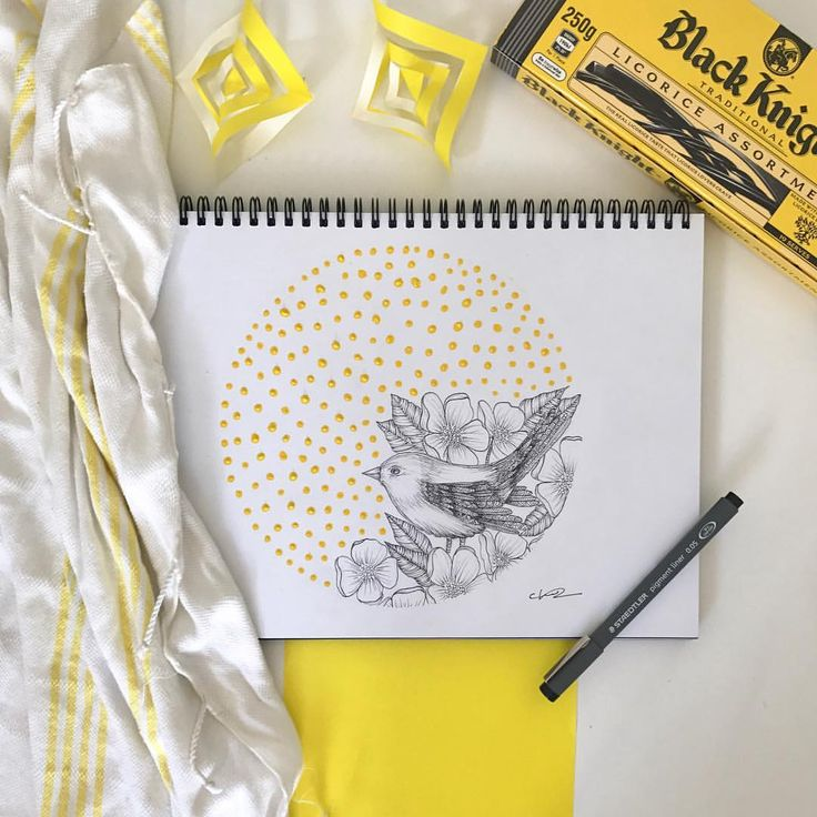"""167 Likes, 9 Comments - chelsea-Mae Art (@cmae.art) on Instagram: """"LITTLE BIRDY! Yay another yellow coloured post! What do you think of the pop of colour in this…"""""""