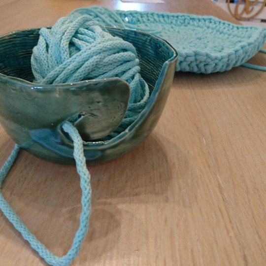 Ideal yarn bowl for crochet