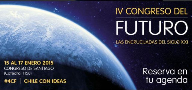 """¡Participa de este tremendo congreso y es gratis! """"IV Congreso del Futuro: Las Encrucijadas del siglo XXI"""", que se realizará entre el 14 y el 17 de enero en la sede del Parlamento en Santiago, ubicado en Catedral 1158. La entrada es liberada.  Inscripción gratis acá http://www.senado.cl/inscripcion-iv-congreso-del-futuro/prontus_senado/2014-11-04/175752.html #congreso #tecnología #futuro #medicina #ciencia #astrofísica #astronomía #antropología #paleontología #cambioclimatico"""