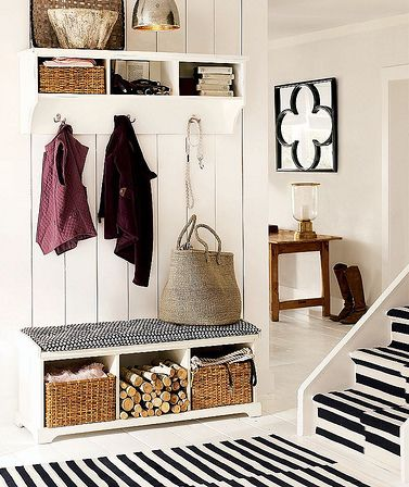Entryway organization - school shoes, jackets, backpacks.  No more looking for shoes in the morning