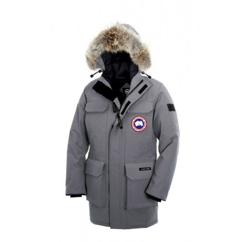 Canada Goose Herren - Verkauf Canada Goose Down Jacke Herren Citadel Parka Fur Hoody Grau Shop