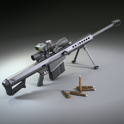 M82 50Cal. Barrett Sniper Rifle. High-powered killing machine of today's battlefield.