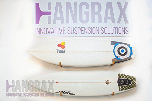 Solutions innovantes s Hangrax Suspension Simple Garage de rangement pour planche de surf, canoës,/Snowboard vélo, câbles, etc.