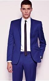 Свадебный костюм синего цвета фото