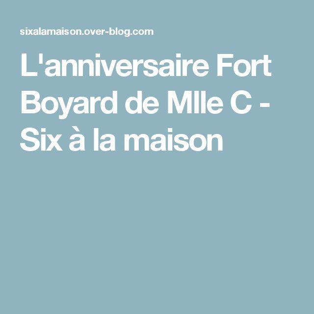 L'anniversaire Fort Boyard de Mlle C - Six à la maison