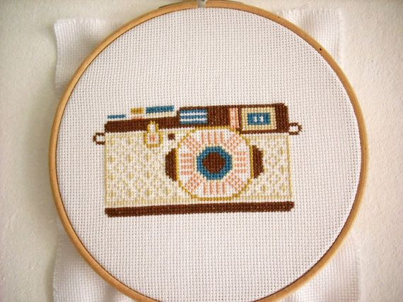 Cross Stitch Pattern PDF Camera Counted Cross by KokoPattern