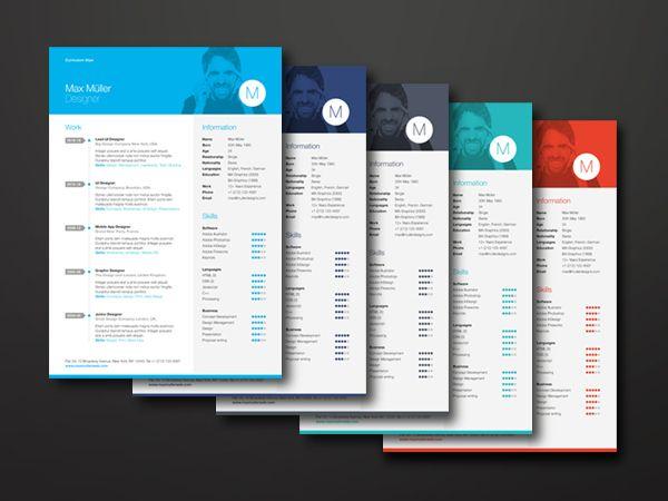 25 best Modern CV Samples images on Pinterest Resume templates