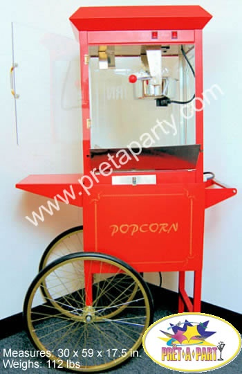 Popcorn Machine rentals from Montreal's Prêt-A-Party! Call and reserve yours today 514.926.4940