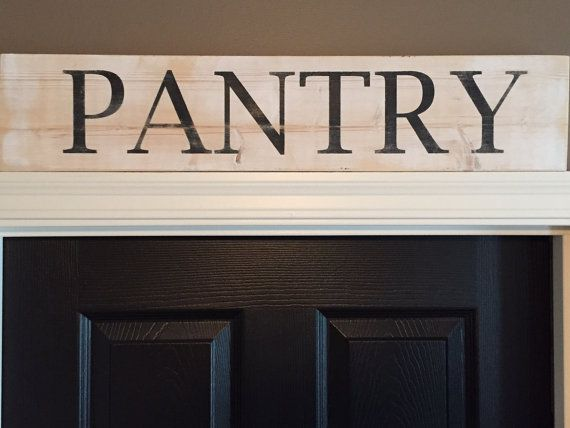 Wooden Pantry Sign by TSKDesignWorks on Etsy