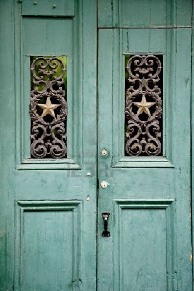 Ever since our trip to Paris I love doors!  Wondering how I can use doors in my house besides the normal way!