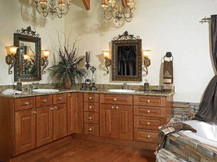 Furnitures Creative Man Made L Shaped Vanity Bathroom