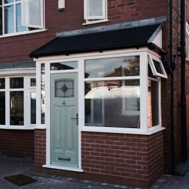 "T & J Conservatories on Twitter: ""Stunning Cotswold Green door porch entrance and Windows #weekend @BoltonReTweet @WarriReTweet @WiganReTweet https://t.co/nNyy59PpGh"""