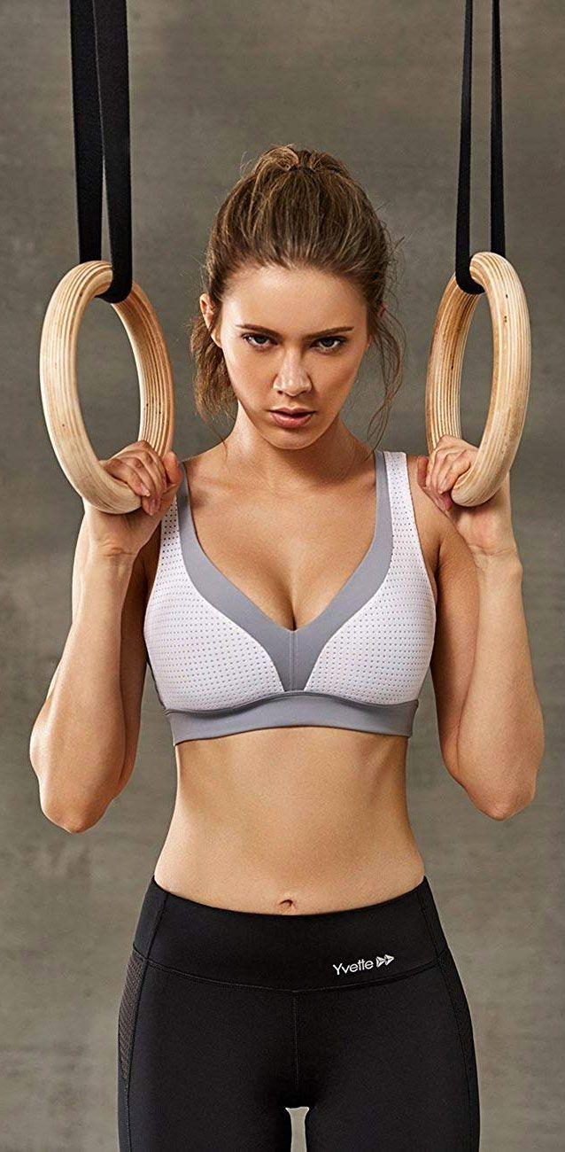 c63d622ace9 Yvette Women s Criss Cross Back High Impact No Bounce Wirfree Push Up Color  Block Sports Bra.  sportsbra  fit  athletic  sexy