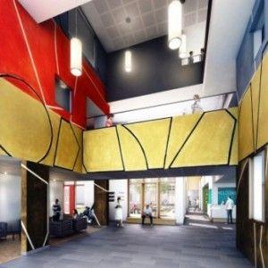 The New QEII hospital - architect's image of main atrium