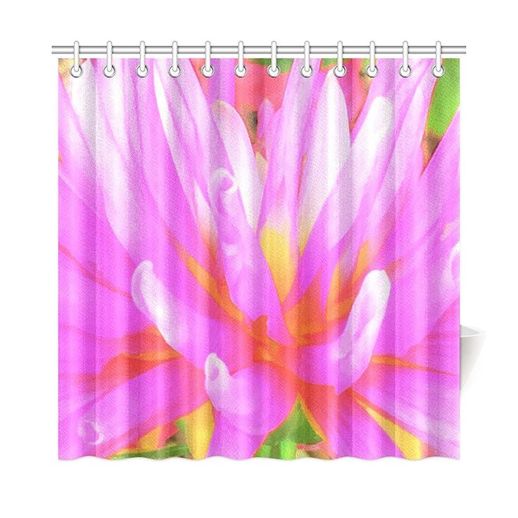 Shower Curtains Stylish Printed Fabric Waterproof Bathtub Curtain