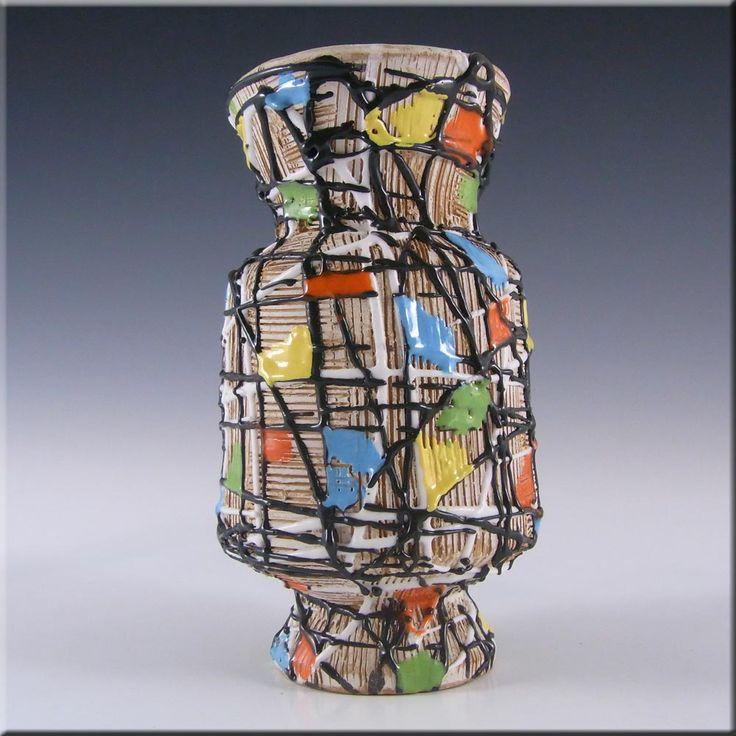 Fratelli Fanciullacci Italian Ceramic Pottery Textured Vase - £30.00