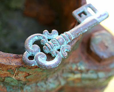 Maya-Honey Lampwork: Rustic Skeleton key
