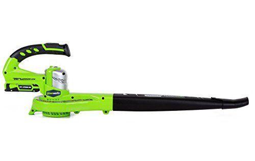 Greenworks Tools Souffleur sans fil 24V Lithium-Ion: 24V 2Ah Lithium-Ion Greenworks Tools batterie offre une grande efficacité qui délivre…