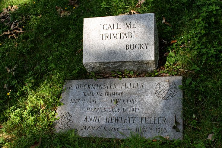 8 Architects Who Took Their Trademark Styles to the Grave - Architecture of Death - Curbed National Buckminster Fuller grave