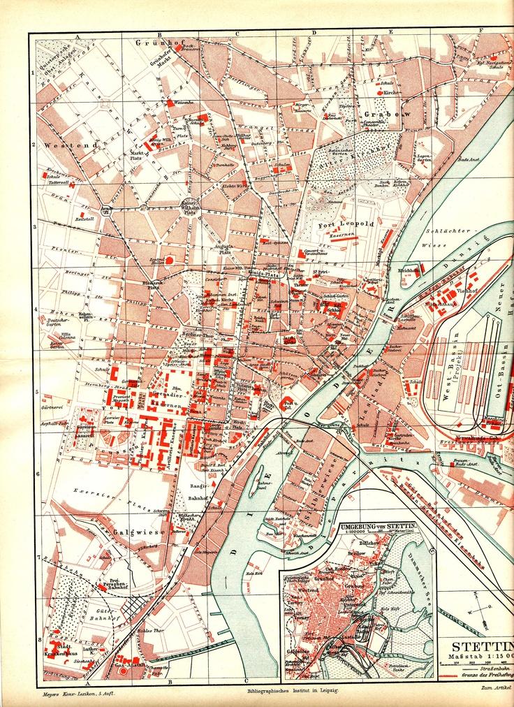 Stadtplan Stettin 1897