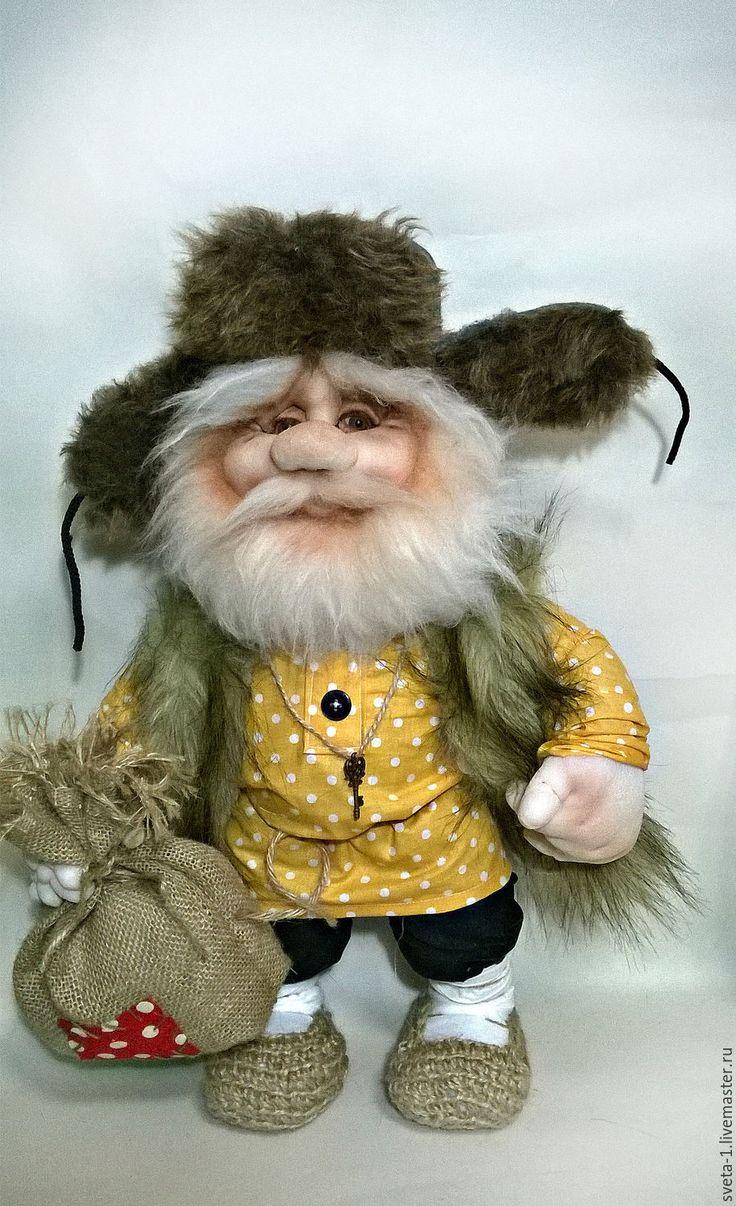 Купить домовой - желтый, домовой, обереги в подарок, оберег для семьи, интерьерная кукла, капроновая кукла