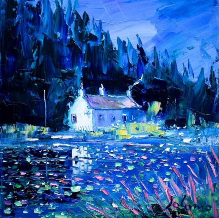 John Lowrie Morrison - Summer Evening at the Lily Pond, Crinan Canal