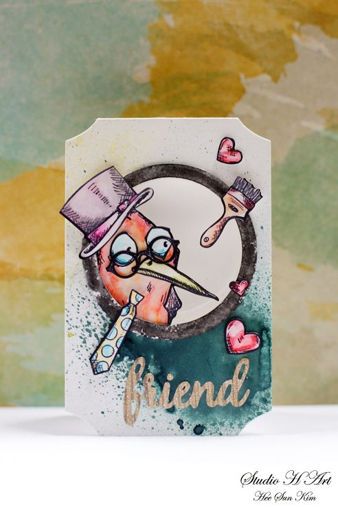STUDIO H ART: Bird Crazy Mini Card