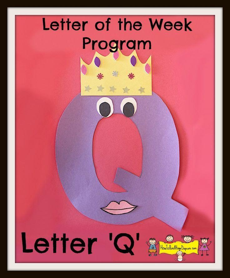 Free Letter of the Week Program- letter Q