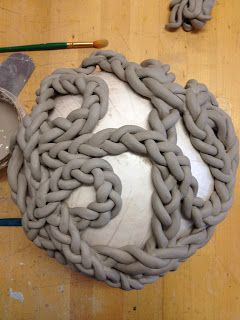 coil braids - this is really difficult with any sort of smooth clay, has to have just the right consistency