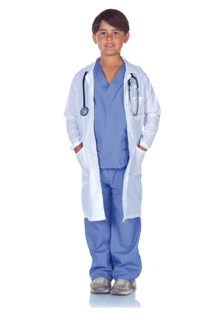Child Doctor Scrubs with Labcoat