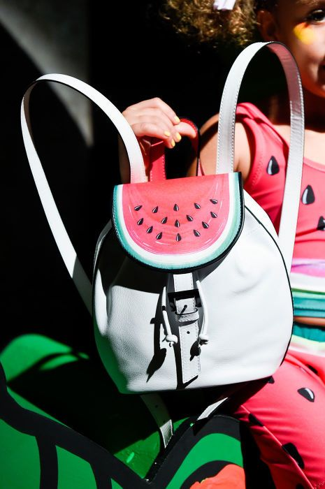 Of course Sophia Webster did a watermelon backpack. Photo: Imaxtree
