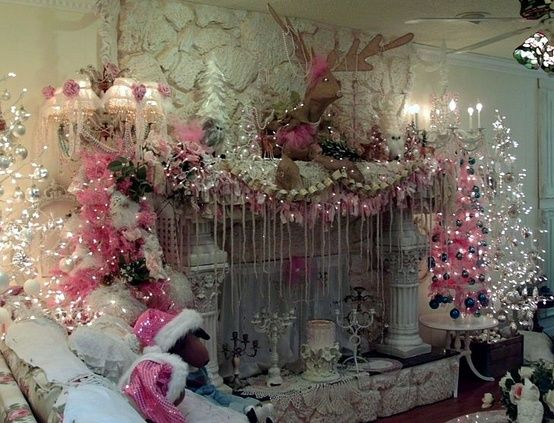 Vintage Christmas Mantel Decorations : Best images about christmas mantles on